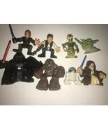 Star Wars Hasbro mini Action Figure Lot 8 Assorted figures 2001-2004 Yea... - $19.79