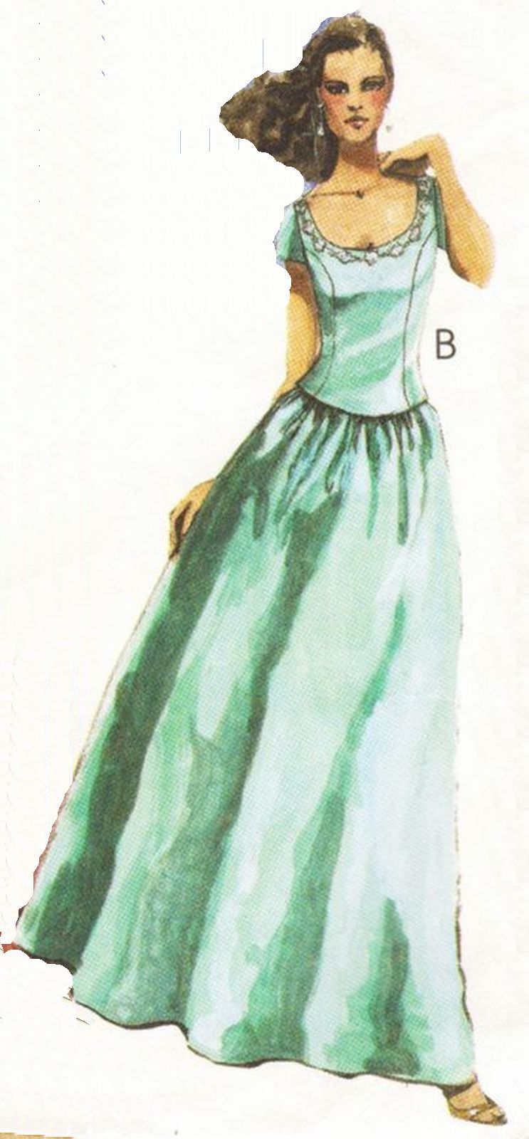 Misses Formal Prom Bridesmaid Evening Gown Top Skirt Overskirt Sew Pattern 8-12