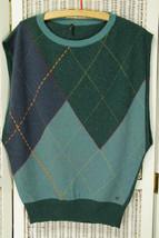 "STILE BENETTON Argyle Sleeveless Jumper Waistcoat Vest Men's Unisex 40"" ... - $42.77"