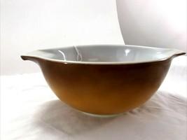 Vintage Pyrex Brown Orange Hombre 1 1/2 Qt. # 442 Bowl with Handles - $25.15