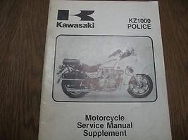 1983 83 Kawasaki KZ1000 Kz 1000 P2 Police Shop Supplement Repair Manual - $35.81