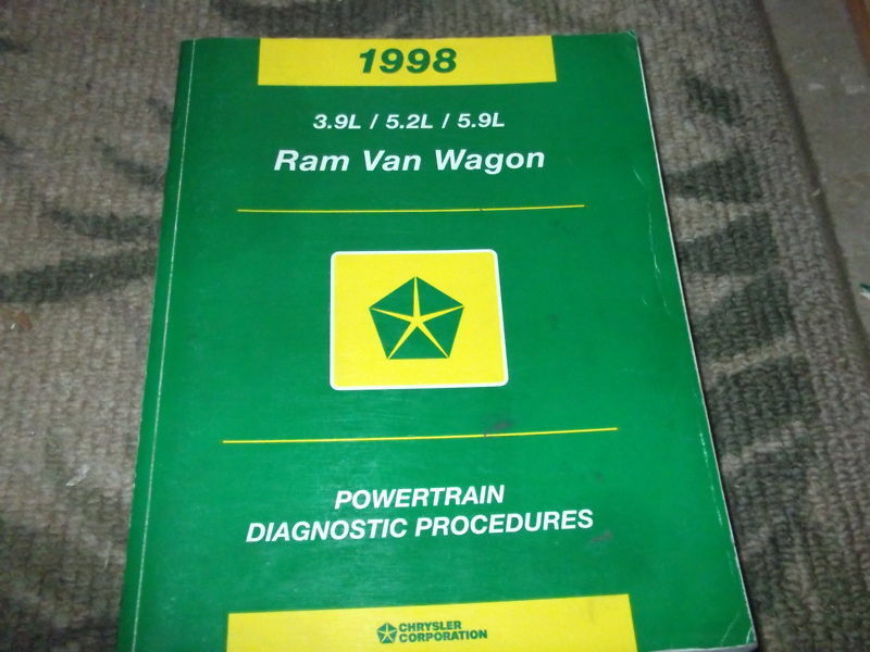 Primary image for 1998 Dodge Ram Van Wagon Powertrain Diagnostic Procedures Service Manual OEM