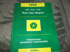 1998 Dodge Ram Van Wagon Powertrain Diagnostic Procedures Service Manual... - $9.85