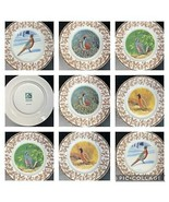 8 National Wildlife Federation Plates WILD BIRDS w/Oak Leaf Acorn Patter... - $79.19