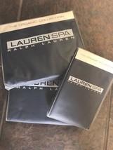 New Ralph Lauren Spa Organic Queen Sheet Set 400 TC Indigo Blue - $233.74