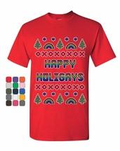 Happy Holigays T-Shirt Gay Merry Christmas Ho Ho Ho LGBT Xmas Mens Tee S... - $9.23+