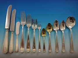"Etruscan by Gorham Sterling Silver Flatware Set Dinner Service 142 pcs ""L"" Mono - $10,250.00"