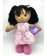 Rag Doll Cute Kids Toy 15 inch ages 3+ pink flower white dress New - $14.39