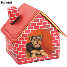 Gomaomi® Cute Portable Brick Pet Dog House Warm And Cozy Cat Bed - $22.28