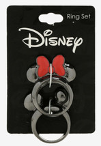 Disney Mickey Mouse And Minnie Mouse Best Friends Hematite Tone Ring Set Size 7 - $21.28