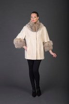 Luxury gift/Beige Beaver Fur Coat/Fur jacket   / Wedding,or anniversary ... - $1,200.00