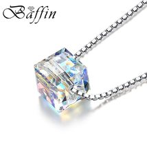 BAFFIN Crystals From SWAROVSKI Cube Beads Necklace Pendants 925 Sterling Silver  image 2