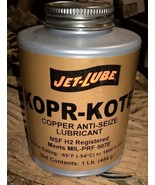 Jet Lube 10004 Kopr-Kote Copper Anti Seize Grease - 450gm Lubricant NSF - $19.50