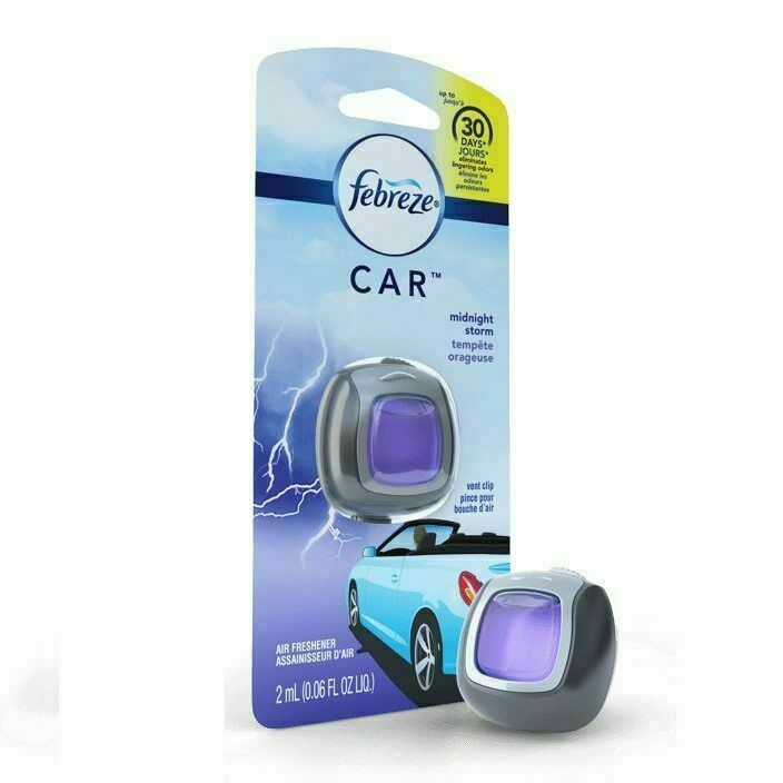 Primary image for Febreze Car Vent Clip, Midnight Storm