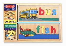 Kids Wooden Spelling Picture Learning Letters Vocabulary Sorting Prescho... - $33.36