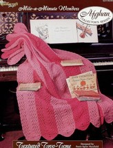 Crochet Pattern - Textured Two-Tone - The Needlecraft Shop - Mile-A-Minute Wonde - $1.50