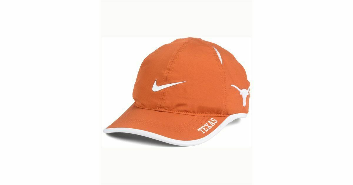 fe637df17238b NEW! NIKE Unisex Texas Longhorns NCAA Featherlight Cap-Orange White -  42.21