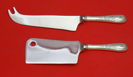 WINDSOR CASTLE BY TUTTLE STERLING SILVER CHEESE SRVR SERVING SET 2PC HHWS CUSTOM - $127.40