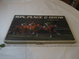 Win, Place, & Show 3M sports board game RARE horse racing 1966 programs money - $42.50
