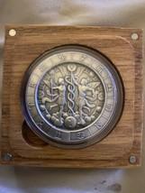 Zodiac Horoscope Gemini 1 oz Silver Capsuled Antiqued Round W/Box - $69.29