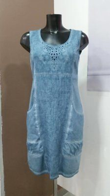 Maloka: Brushed Cotton Fiji Leaf Embroidered Hourglass Dress (1 Left in Indigo) image 6