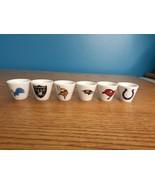Vintage NFL Miniature Gumball Vending machine Ceramic cups .4oz - $7.91