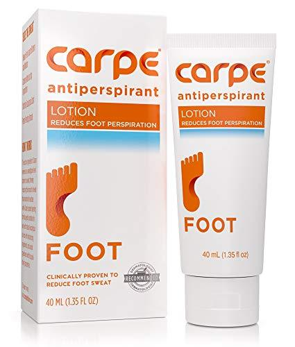 Carpe Antiperspirant Foot Lotion, A Dermatologist-Recommended Solution to Stop S