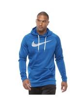 BNWTS Big & Tall Nike Therma Training Hoodie SZ 4XL   4 XL BLUE LOGO SWOOSH - $54.44