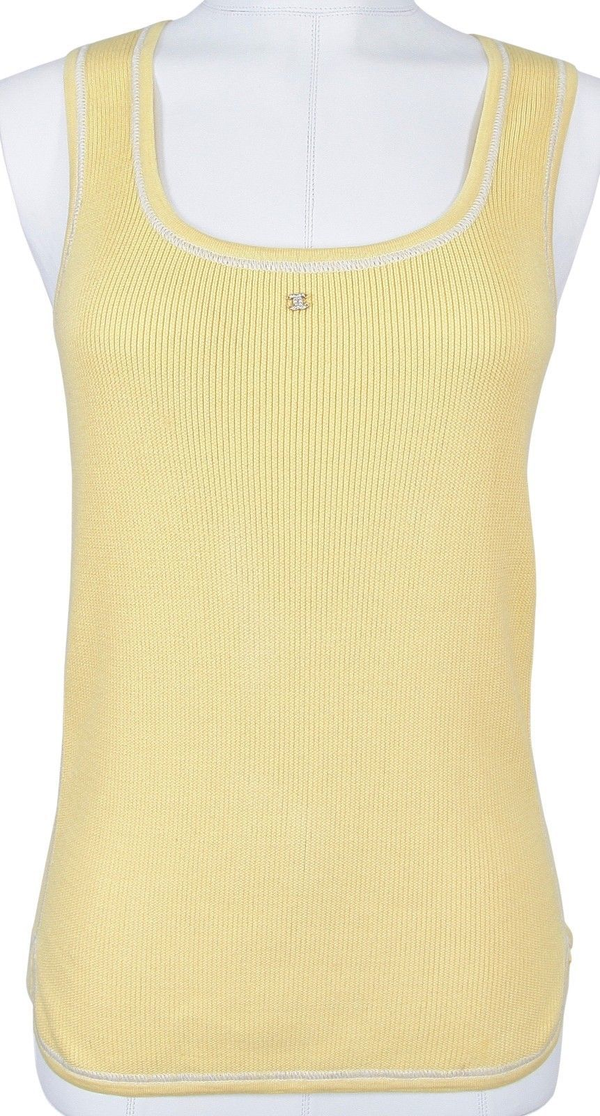 f9110b541b31b CHANEL Top Shirt Knit Sleeveless Yellow and similar items. S l1600
