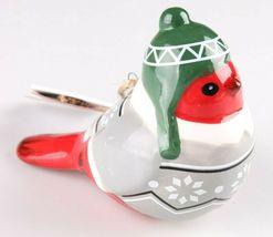 2 Target Wondershop Toymaker Hand Painted Ceramic Bird Ornaments 2018 NWT image 6