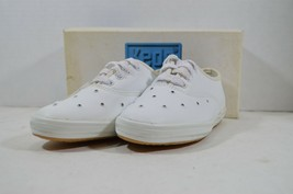 Vintage 90s Keds New Girls 1 Miss Starlight Leather Casual Lace Up Shoes... - $25.79