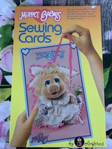 Colorforms VTG Muppet Babies Character 80's Set Of 6 Sewing Cards And Ya... - $18.70