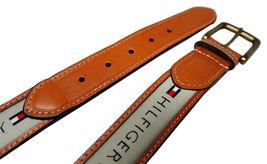 Tommy Hilfiger Men's Premium Ribbon Inlay Anchor Logo Leather Belt 11TL02X032 image 6