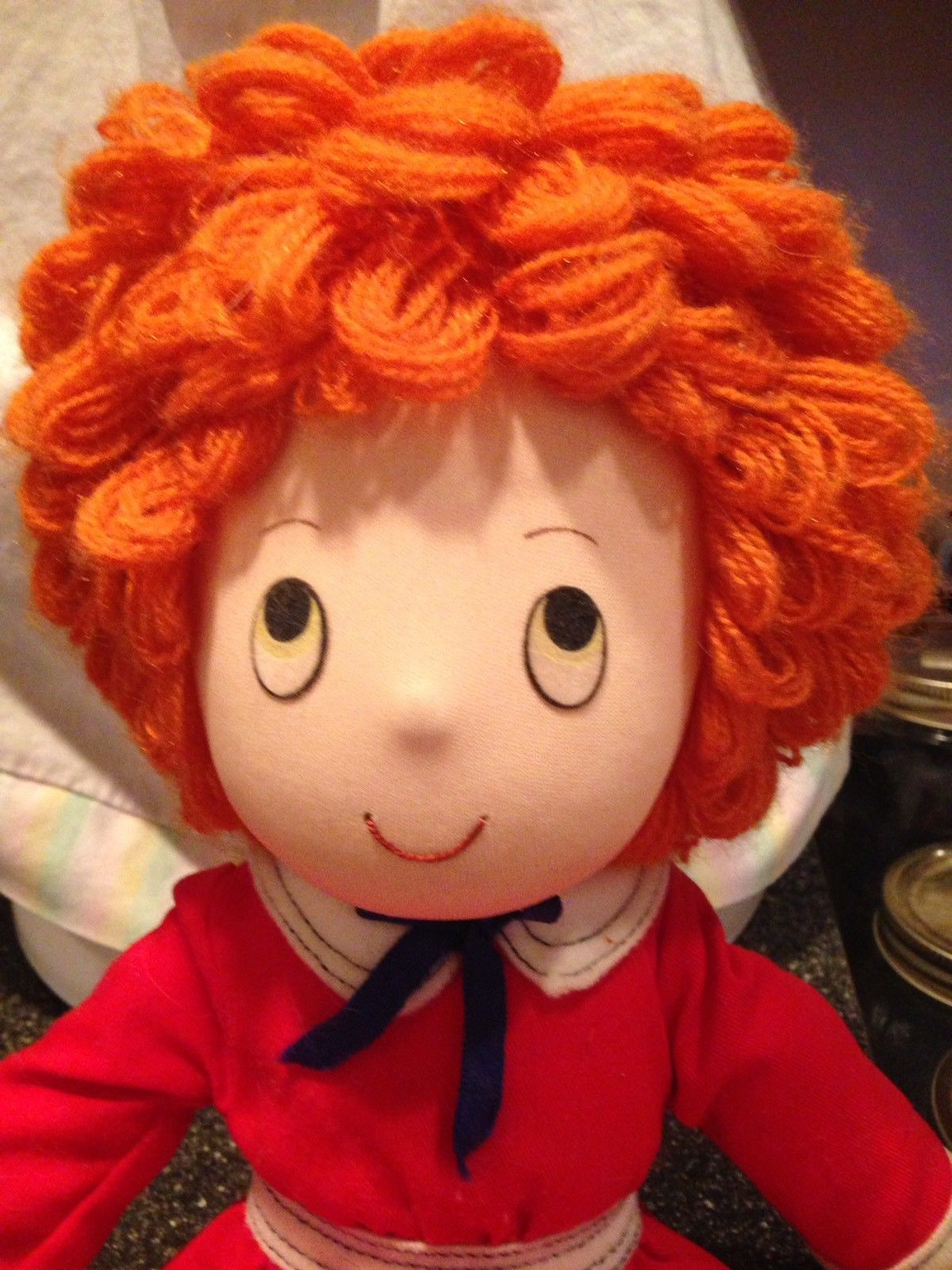 "Vintage 1982 LITTLE ORPHAN ANNIE DOLL Rag Doll Applause 15"" Rare Collectible"