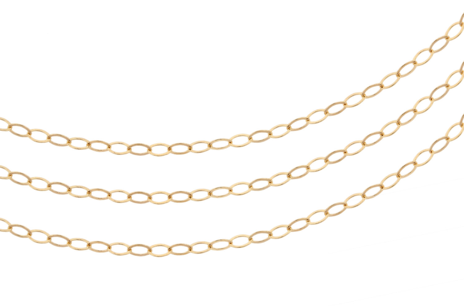 Primary image for Chain, Flat Cable Chain, 14Kt Gold Filled, 2.2x1.7mm, Pkg Of 20ft (2354-20)/1