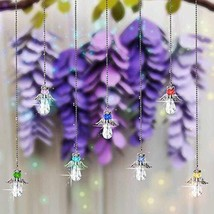 SHINY HANDLES Hanging Crystal Angel Suncatcher,Crystal Angel Pendant,Hangings Cr - $10.68
