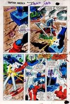 Original 1981 Colan Captain America Annual Marvel Comics color guide art... - $99.50