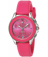 BRAND NEW MICHELE MWW27C000010 CAPE PINK SILICONE SILVER STEEL WOMEN'S WATCH  - $257.39