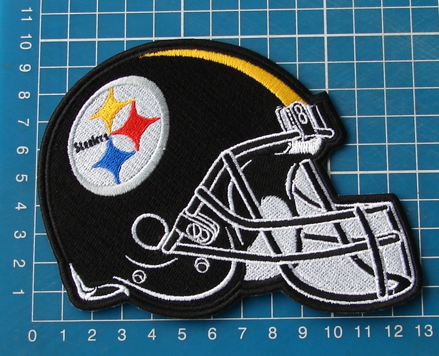 Primary image for PIITSBURGH STEELERS HELMET PATCH NFL FOOTBALL SUPERBOWL JERSEY EMBROIDERED