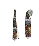 necktie kermit gonzo muppet christmas holiday snowflakes funny tie - $22.00