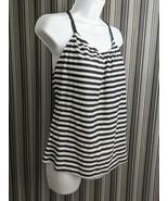 Kona Sol Women's Racerback Tankini Top Swimwear Black/White Size L (12-1... - $12.73