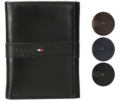 Tommy Hilfiger Men's Premium Leather Credit Card ID Wallet Trifold 31TL110022