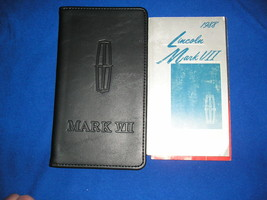 1988 LINCOLN MARK VII OWNERS GUIDE V8 COUPE BILL BLASS +BLACK LEATHER CASE - $25.99