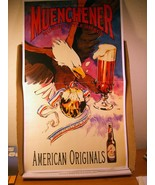 Advertising Poster Muenchener Munich Style Amber Anheuser-Busch Item No ... - $13.49