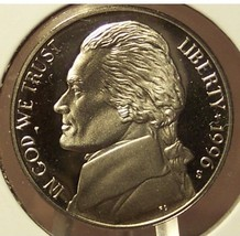1996-S Deep Cameo Proof Jefferson Nickel #0748 - $2.49