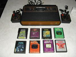 Atari 2600 4 SWITCH with joysticks, adapter, 8 GAMES  FROGGER, ENDURO, A... - $148.49