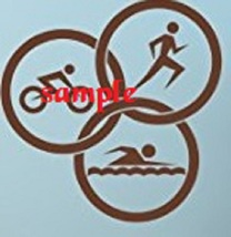 Triathlon Sports Single Colour PDF Cross Stitch Chart - $8.00