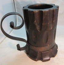 Large, tacky wooden beer stein. Wrought iron handle - $18.99