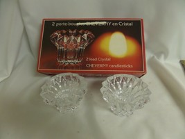 Cristal D' Arques France 2 Lead Crystal Cheverny Candlestick Holders - $27.74