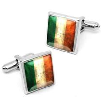 Ireland Flag Sterling Silver Irish National Republic Mens Cufflink Set w... - $35.99
